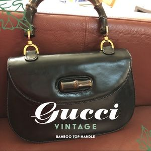 Gucci Vintage bamboo top handle handbag